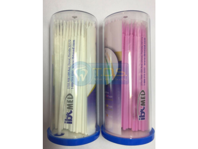 Micro Brush Applicator - SUPERFINE (XS) - 400 PCS - WHITE / PINK