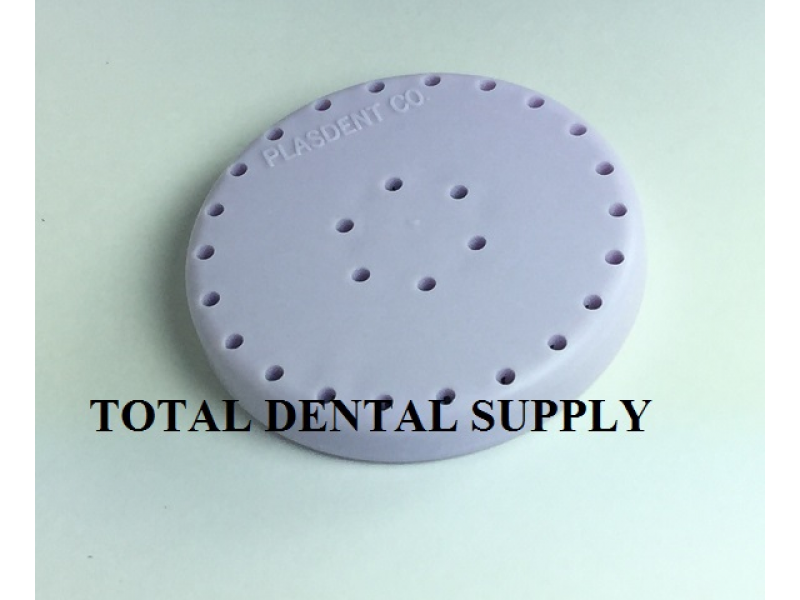 Dental Bur Holder - Holds FG 28 Burs - PURPLE - MAGNETIC - AUTOCLAVABLE